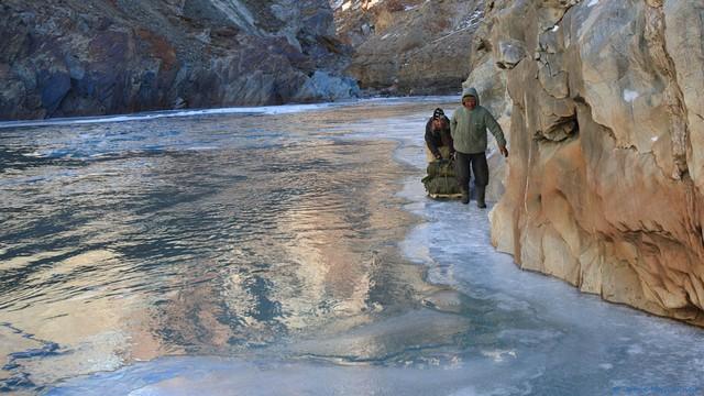 Sub Zero temperatures and a snow leopard - Frozen River Trek