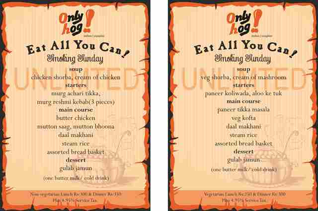 Eat all you can - any day of the week. A food option worth every bite at Only Hog